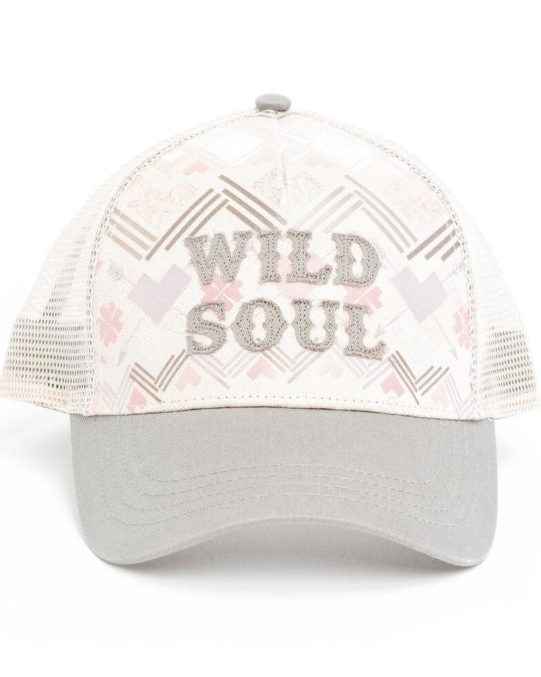 Shyanne Women's Wild Soul Screen Print Cap , White, hi-res