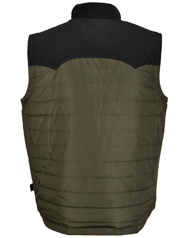 STS Ranchwear Men's Olive River Puff Vest , Olive, hi-res