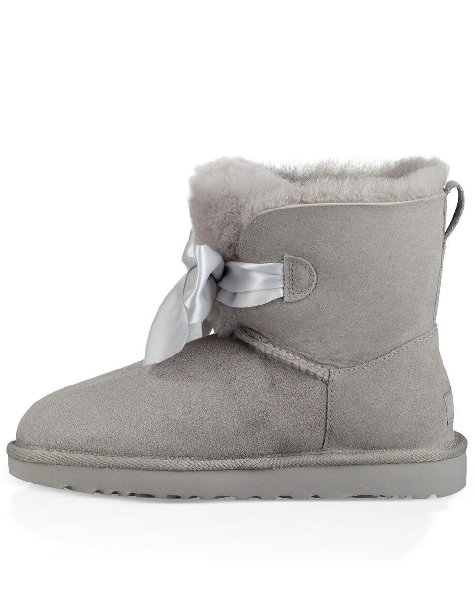 UGG Women's Seal Gita Bow Mini Boots - Round Toe, , hi-res