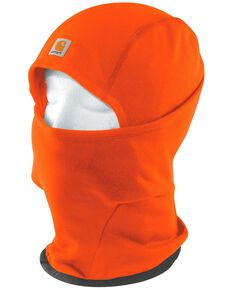 Carhartt Men's Fleece 2-in-1 Headwear, Orange, hi-res