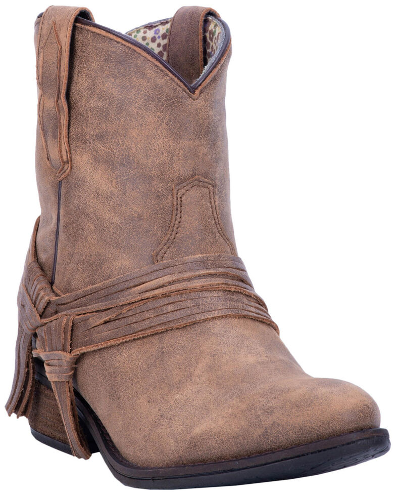Laredo Women's Kyra Fashion Booties - Round Toe, Tan, hi-res