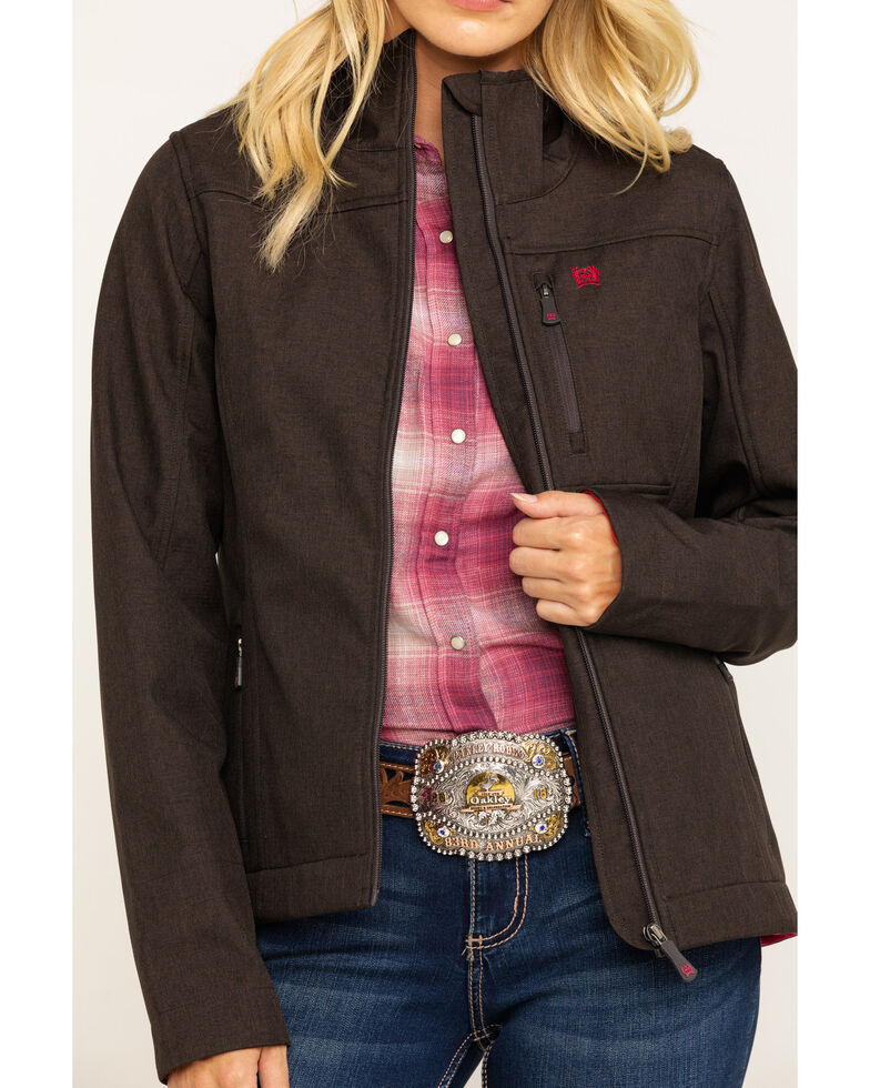 Cinch Women's Brown Texture Bonded Concealed Carry Jacket, Brown, hi-res
