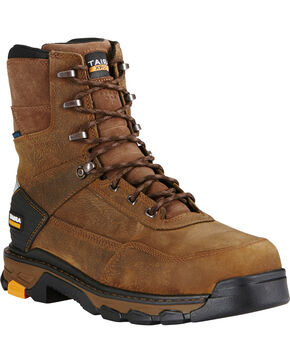 Ariat Men's Intrepid Waterproof  Work Boots, Brown, hi-res