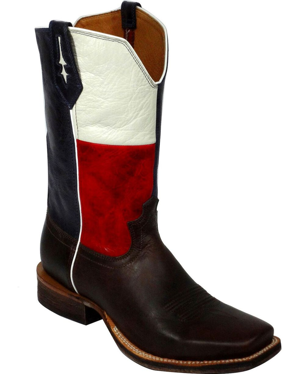 Twisted X Men's Texas Western Boots, Chocolate, hi-res