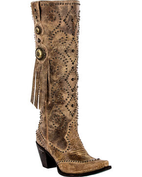 Lane Women's Conchita Fashion Western Boots, Tan, hi-res