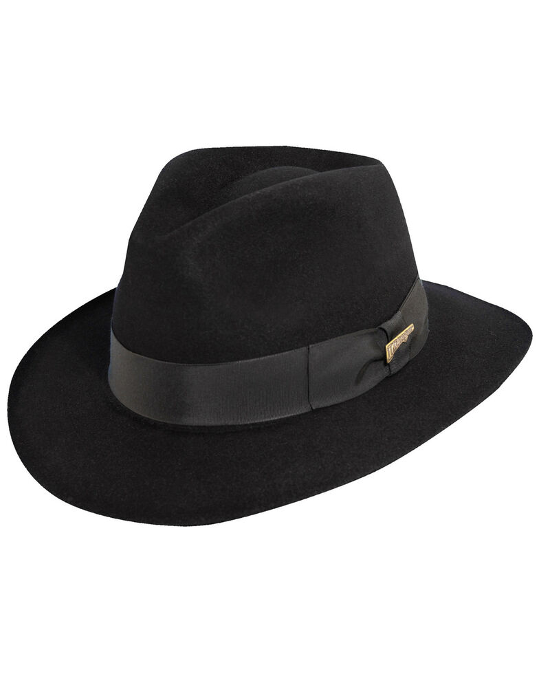 Indiana Jones Fur Felt Fedora Hat, Black, hi-res