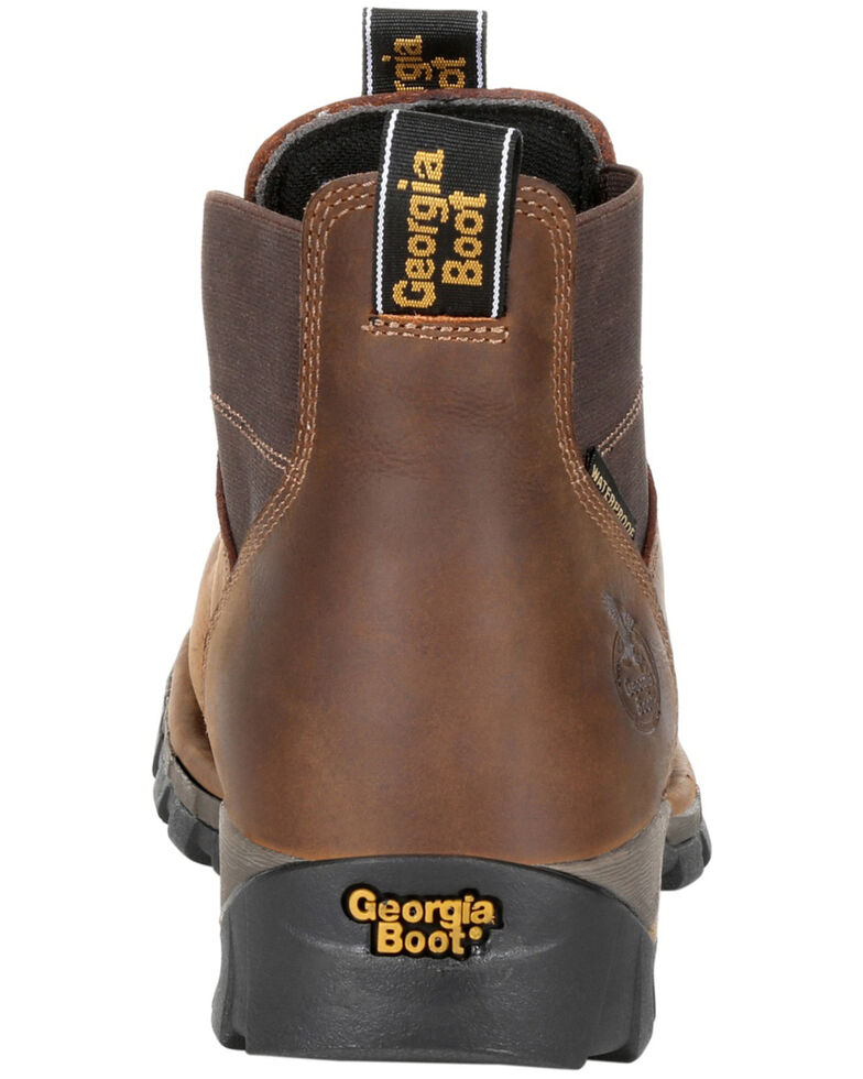 Georgia Boot Men's Eagle One Waterproof Chelsea Work Boots - Soft Toe, Brown, hi-res