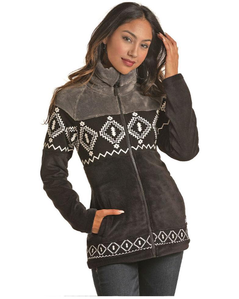 Powder River Outfitters Women's Black Multi Media Aztec Print Jacket , Black, hi-res