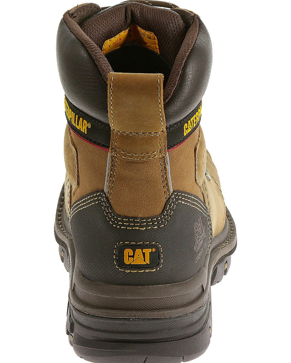 "CAT Men's Hauler 6"" Waterproof Composite Toe Work Boots, Light Brown, hi-res"