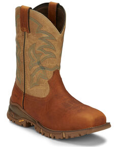 Tony Lama Men's Roustabout Straw Western Work Boots - Composite Toe, Tan, hi-res