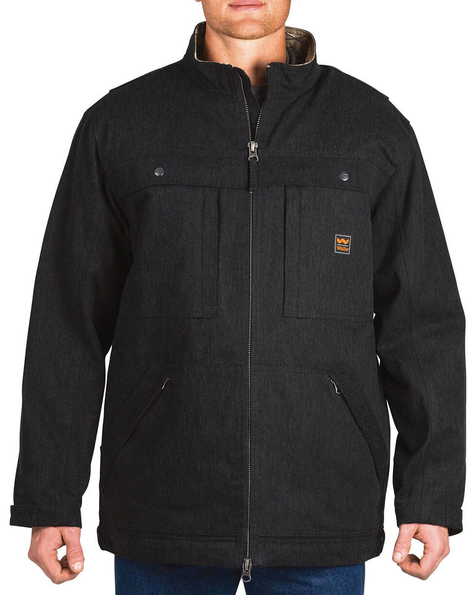 Walls Men's Workwear Muscle Back Coat , Black, hi-res