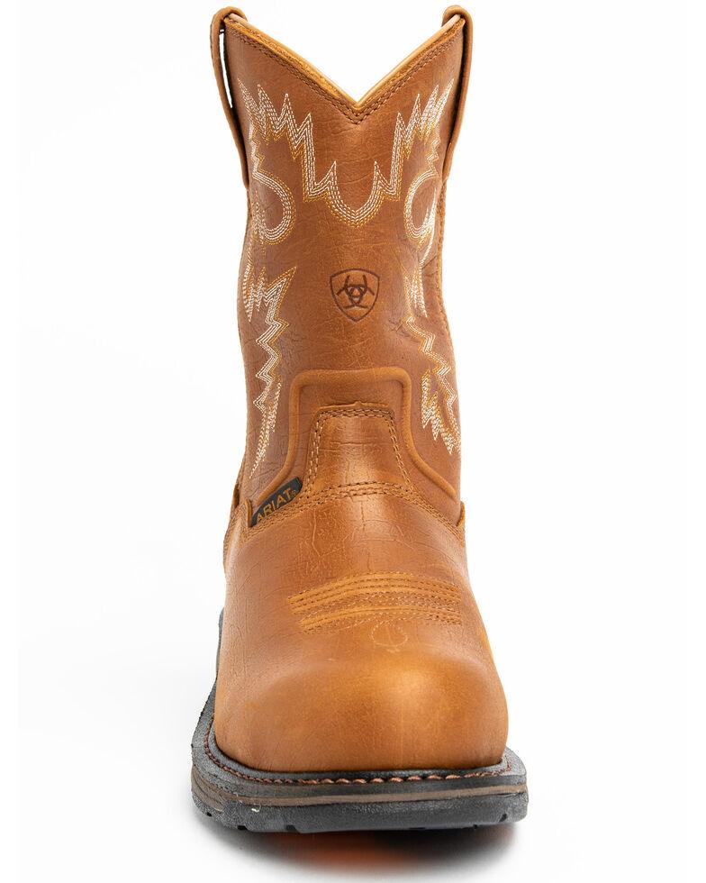 Ariat Men's Workhog RT H2O Composite Toe Work Boots, Bark, hi-res