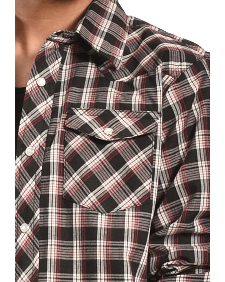 Wrangler Boy's Assorted Western Plaid Shirt, Plaid, hi-res