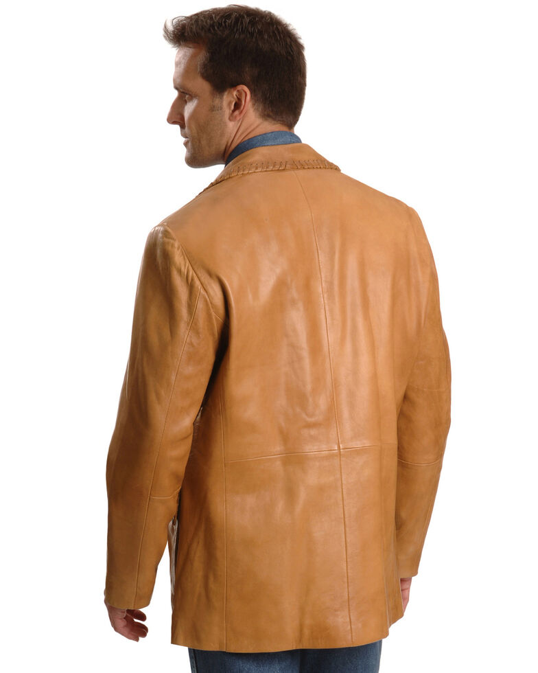Scully Men's Whipstitch Leather Blazer, Tan, hi-res