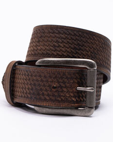 Hawx Men's Roller Buckle Basket-Weave Belt , Brown, hi-res