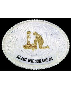 Montana Silversmiths Some Gave All Belt Buckle, Silver, hi-res