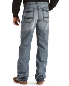 Cinch Men's Grant Light Stonewash Relaxed Boot Cut Jeans, Indigo, hi-res
