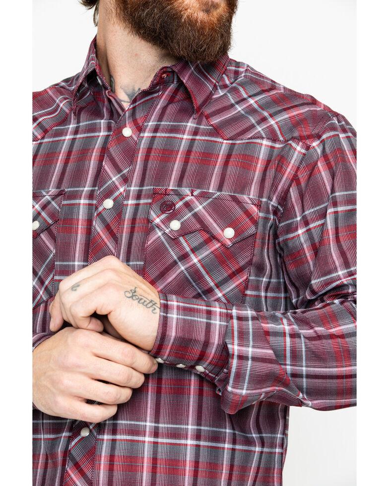 Wrangler Retro Men's Red Lurex Long Sleeve Western Shirt, Red, hi-res