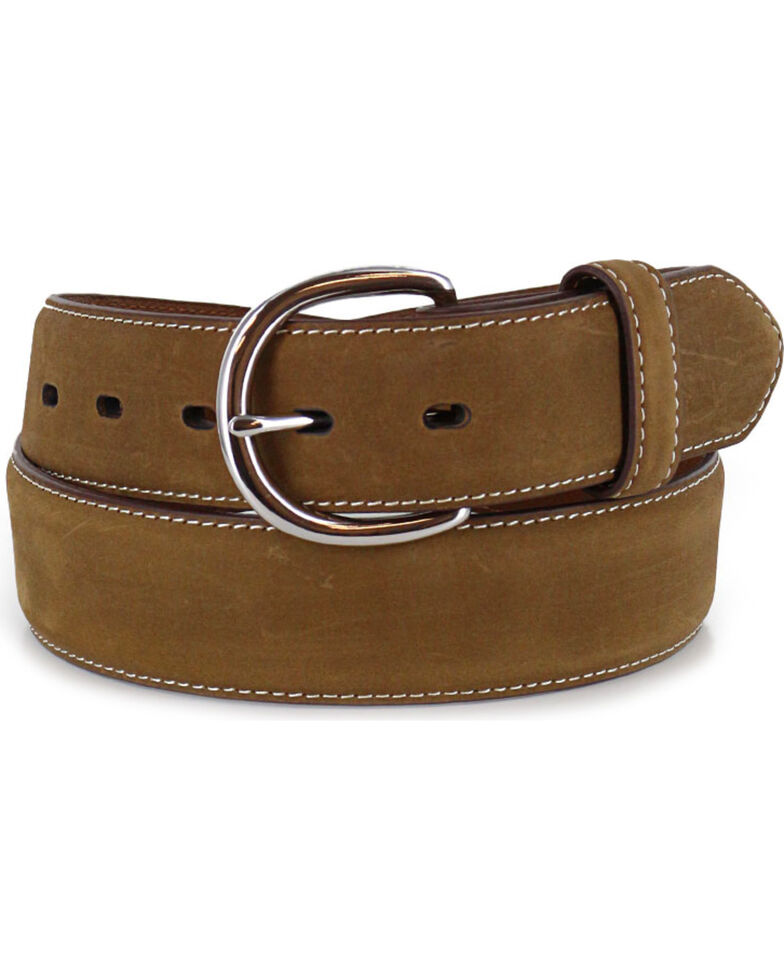 Cody James® Western Overlay Leather Belt, Brown, hi-res