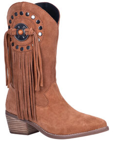 Dingo Women's Takin' Flight Western Boots - Round Toe, Tan, hi-res