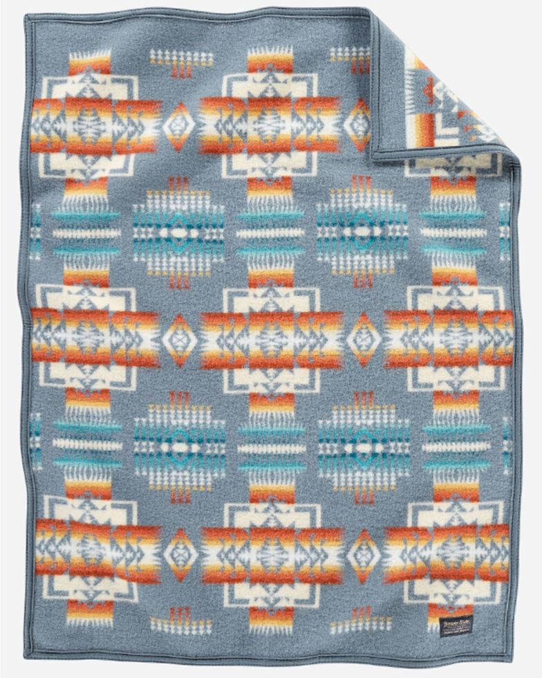 Pendleton Chief Joseph Crib Blanket, Blue, hi-res