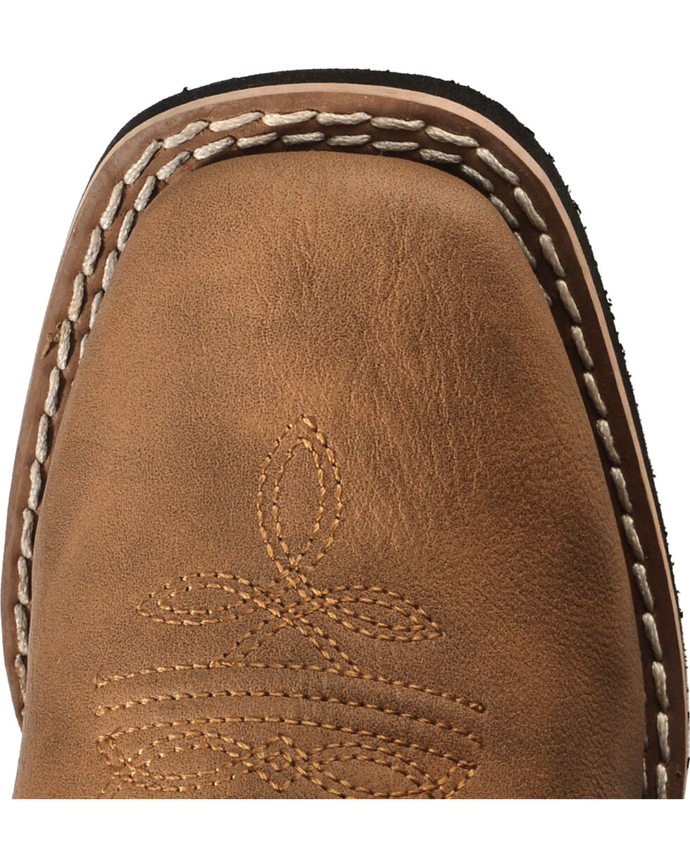 Swift Creek Boys' Cowboy Boots - Square Toe, Brown, hi-res