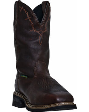 John Deere® Men's Steel Toe Work Boots, Copper, hi-res