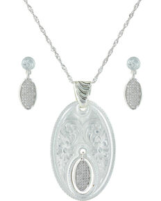 Montana Silversmiths Women's Silver The Fairest One Of All Jewelry Set , Silver, hi-res