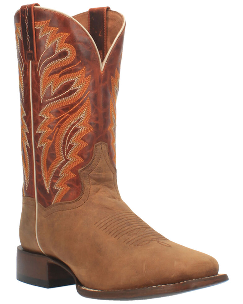 Dan Post Men's Tan Western Boots - Wide Square Toe, Tan, hi-res