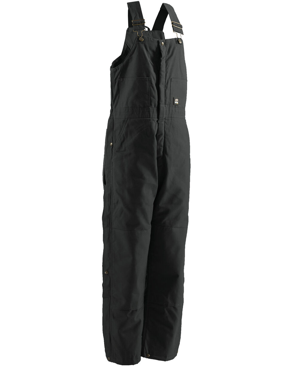 Berne Brown Duck Deluxe Insulated Bib Overalls - Tall, Black, hi-res