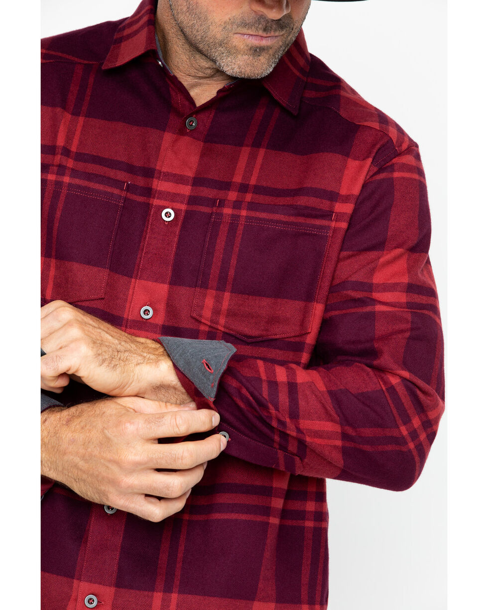 Under Armour Men's Borderland Flannel , Red, hi-res