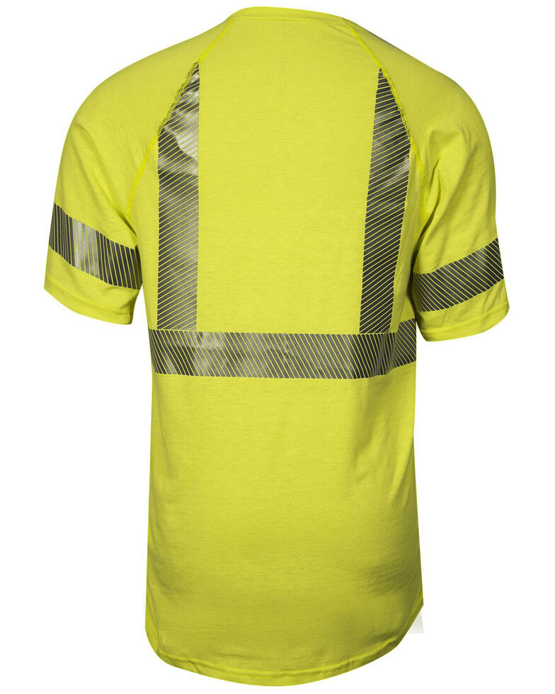 National Safety Apparel Men's Hi-Vis FR Control 2.0 Type R Class 2 Base Layer Shirt - Big & Tall, Bright Yellow, hi-res