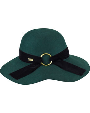 Betmar Women's Wharton Emerald Wide Brim Floppy Hat, Green, hi-res
