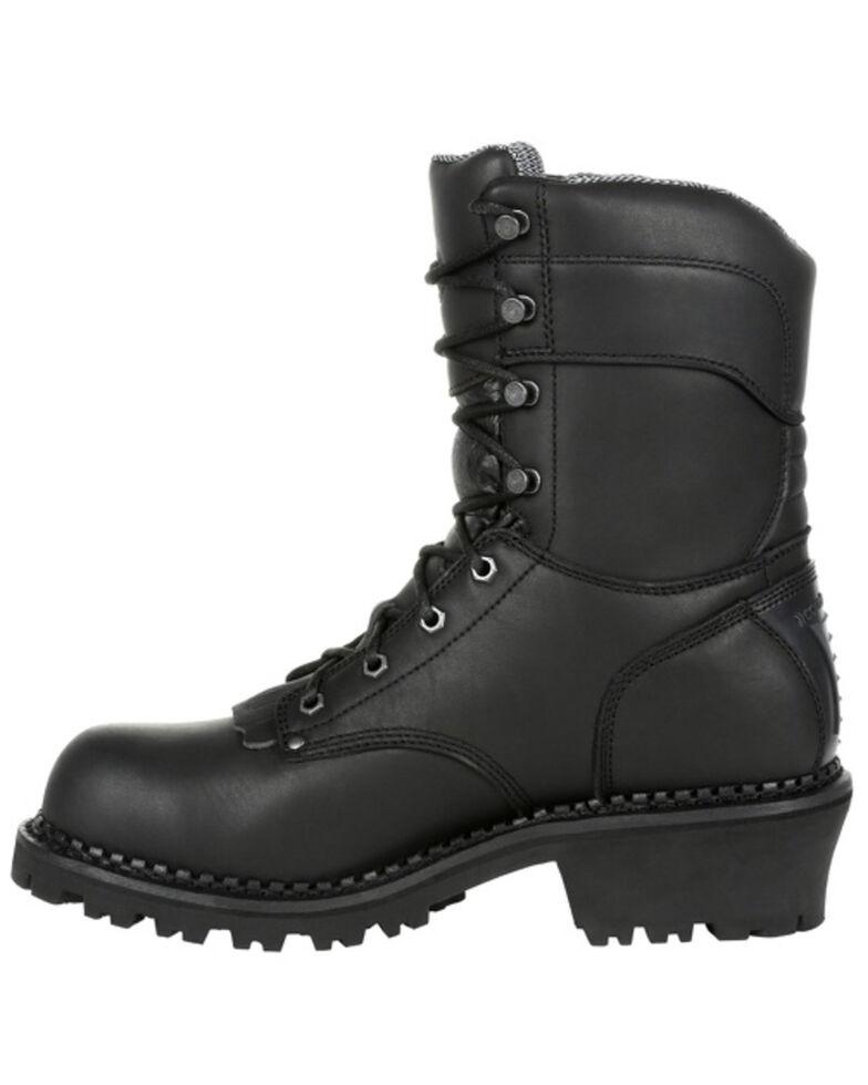 Georgia Boot Men's AMP LT Waterproof Logger Boots - Soft Toe, Black, hi-res