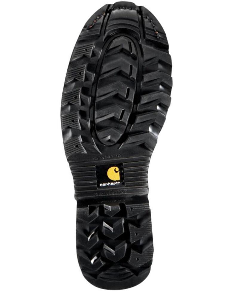 "Carhartt 8"" Crazy Horse Brown Waterproof Insulated Logger Boot - Composite Toe, Crazyhorse, hi-res"