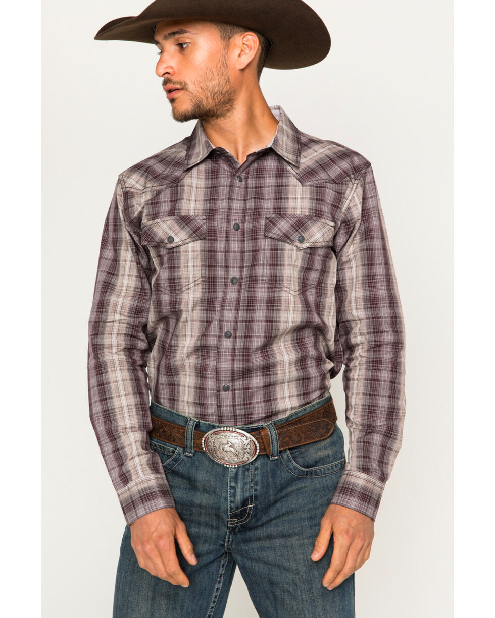 Cody James Men's Southern Cross Western Shirt , Burgundy, hi-res