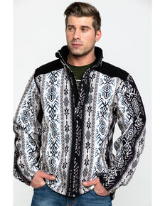 Powder River Outfitters Men's Aztec Soft Shell Jacket , Black, hi-res