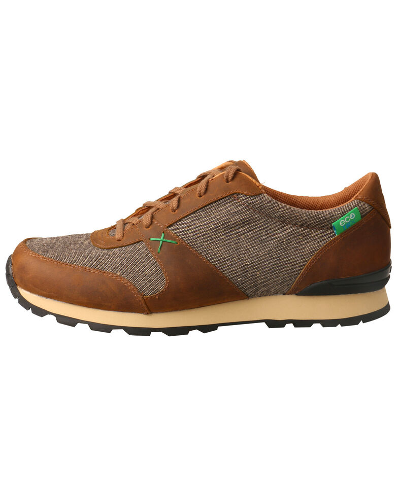 Twisted X Men's Hooey Athleisure Shoes - Round Toe, Tan, hi-res