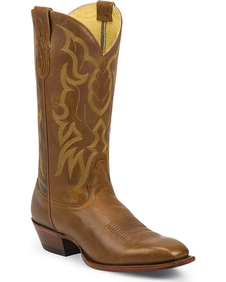 Nocona Men's Brown Wister Cowboy Boots - Square Toe , Brown, hi-res