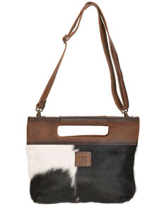 STS Ranchwear Women's Flat Rock Cowhide Clutch, Brown, hi-res