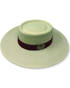 Atwood Women's Southwest Flower Concho Nevada Style Hat , Natural, hi-res