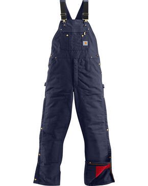 Carhartt Men's Dark Navy Quilt Lined Overalls , Navy, hi-res