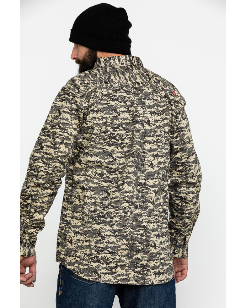Ariat Men's FR Patriot Camo Long Sleeve Work Shirt , Camouflage, hi-res