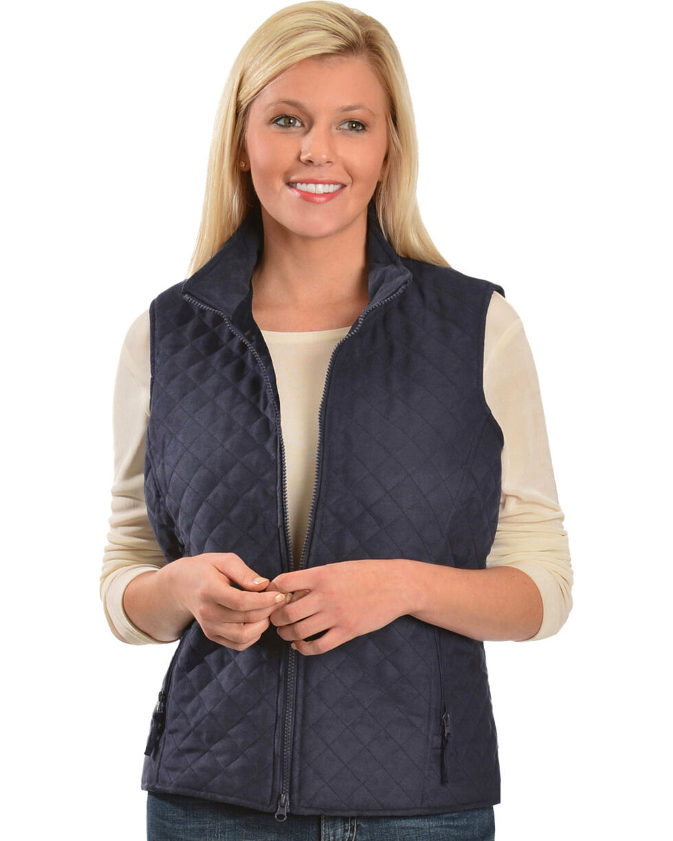 Outback Women's Grand Prix Quilted Vest, Navy, hi-res