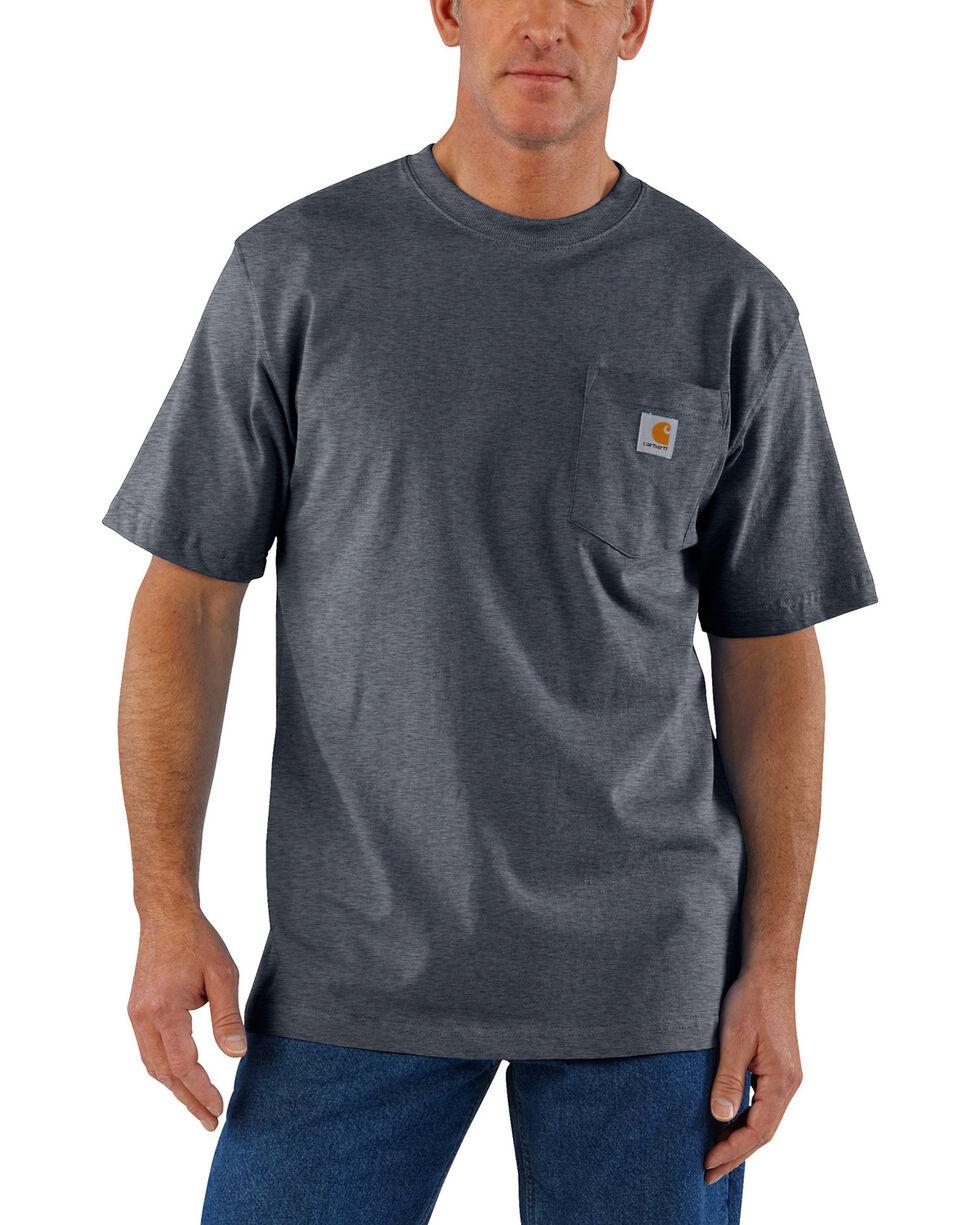 Carhartt Short Sleeve Pocket Work T-Shirt, Grey, hi-res