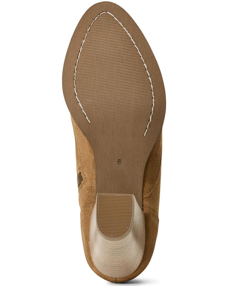 Ariat Women's Unbridled Eva Distressed Fashion Booties - Medium Toe, Tan, hi-res