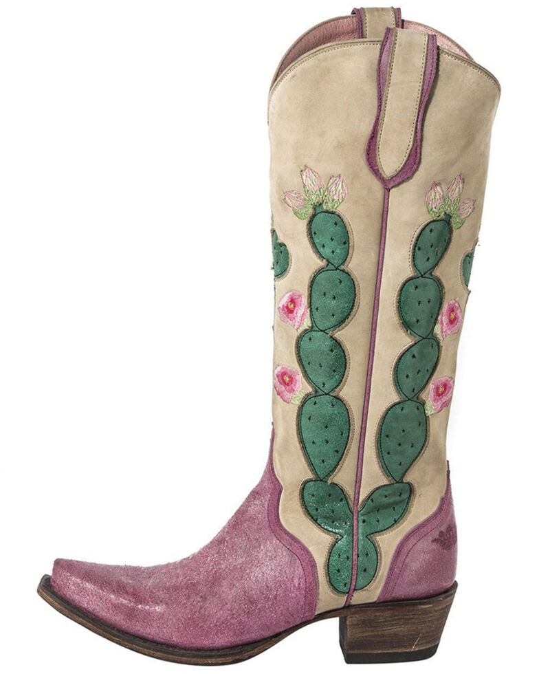 Junk Gypsy by Lane Women's Hard To Handle Western Boots - Snip Toe, Ivory, hi-res