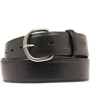 M&F Western Black Leather Money Compartment Belt, Black, hi-res