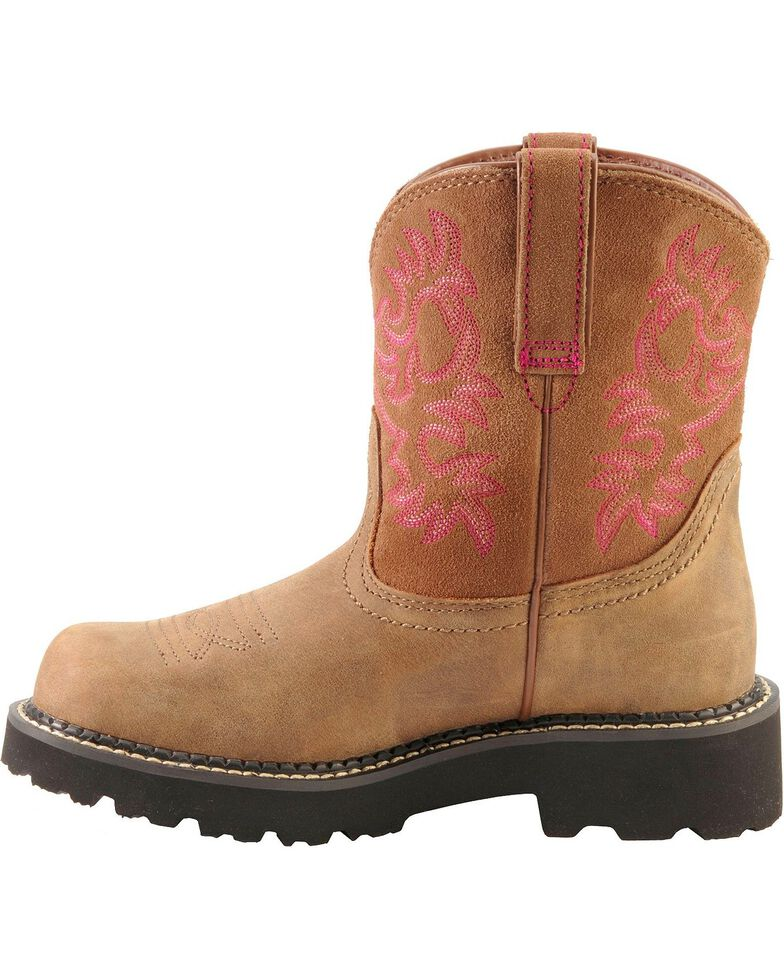 Ariat Fatbaby Bomber Cowgirl Boots - Round Toe, Brown, hi-res