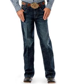 Cinch Boys' Carter Dark Wash Regular Fit Jeans (4) - Boot Cut , Indigo, hi-res
